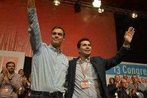 Gonzalo Caballero e Pedro Sánchez