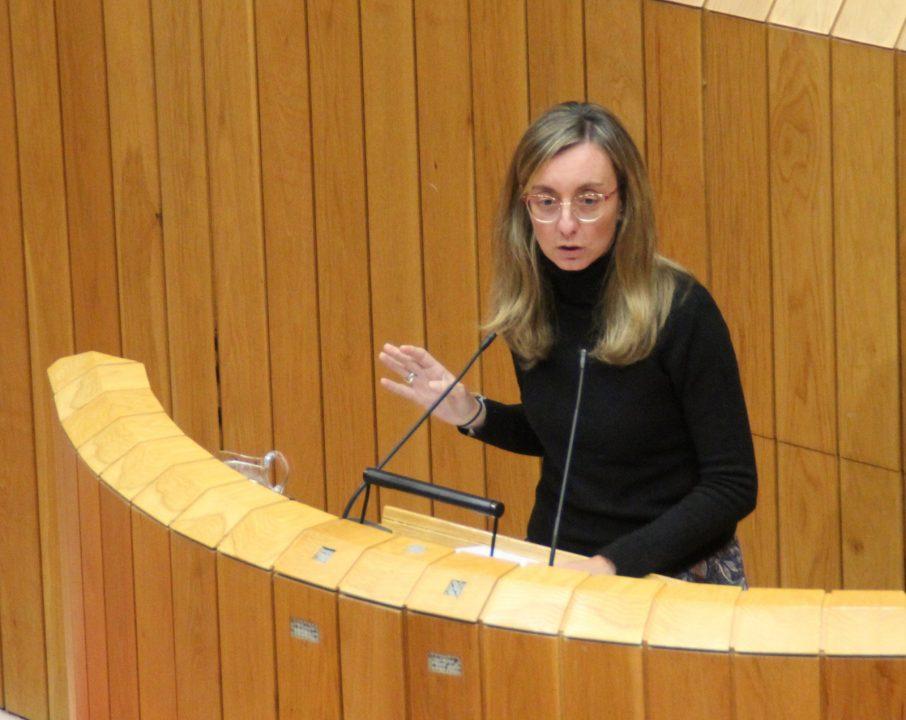 Paloma Castro durante a súa intervención sobre Política Social no Parlamento