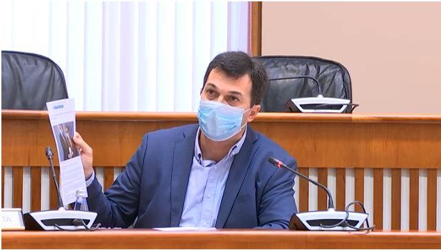 Gonzalo Caballero, durante a Comisión de Reconstrución