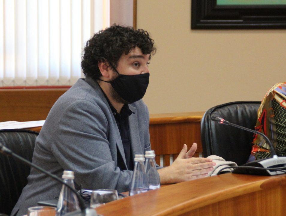 Julio Torrado, durante a Comisión