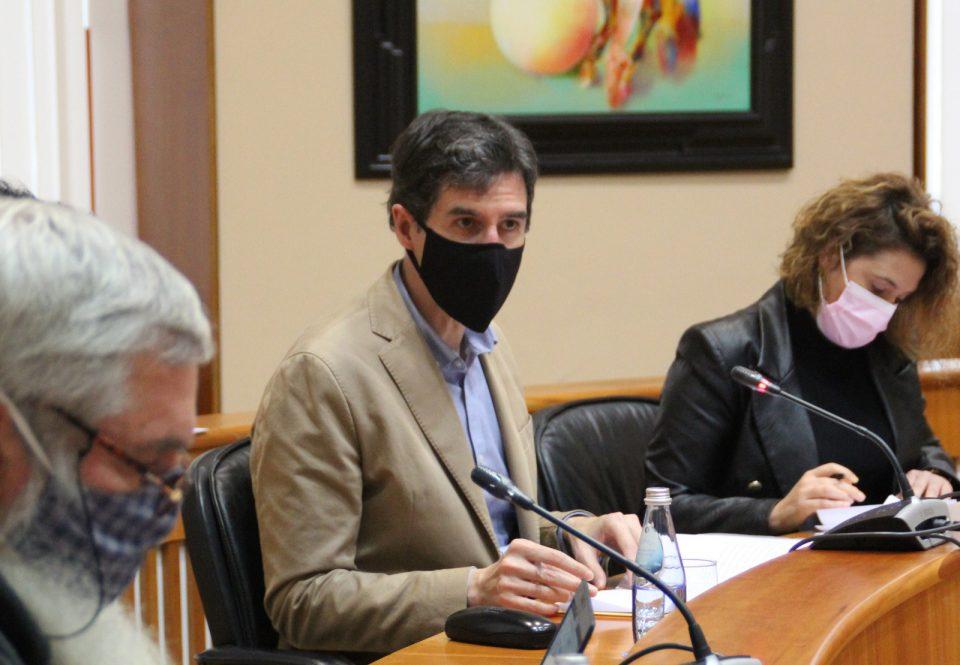 Pablo Arangüena, durante a Comisión de Medio Ambiente