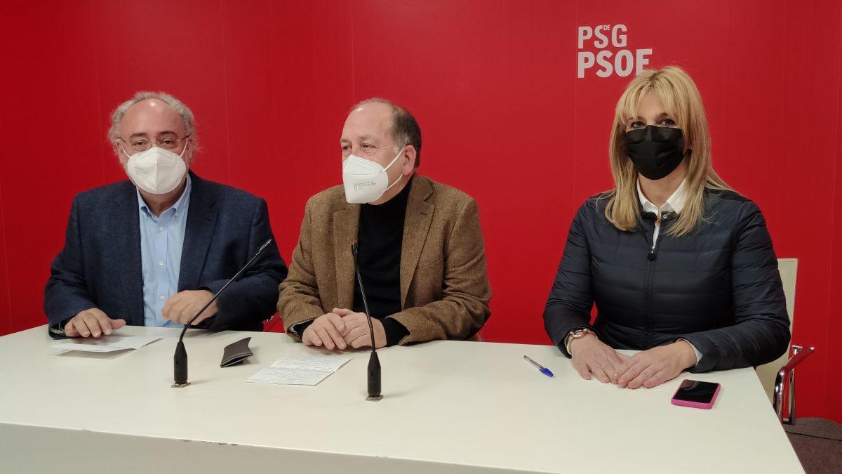 Guillermo Meijón, Xoaquín Fernández Leiceaga e Ana Prieto